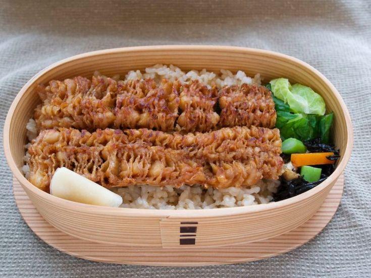 焼鱧重 玄米265g、白菜 ポン酢別、ひじき炊いたん、生姜甘酢