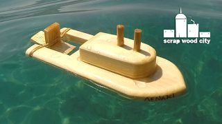 scrap wood city: How to make a wooden toy boat
