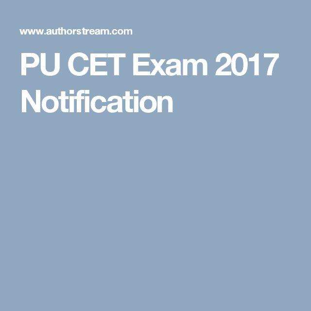 PU CET Exam 2017 Notification