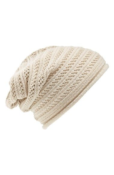 Lulu Slouchy Knit Beanie (Juniors) available at #Nordstrom