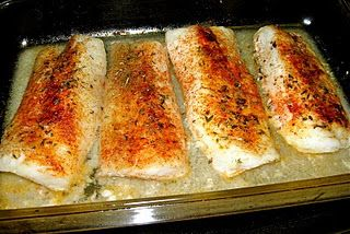 Baked Cod. Preheat oven to 350 degrees. Season the cod filets with desired spices! Bake for about 20 minutes