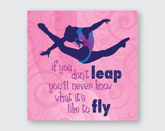 Gimnasia salto volar el arte de la pared por FUNctionalArt4Kids