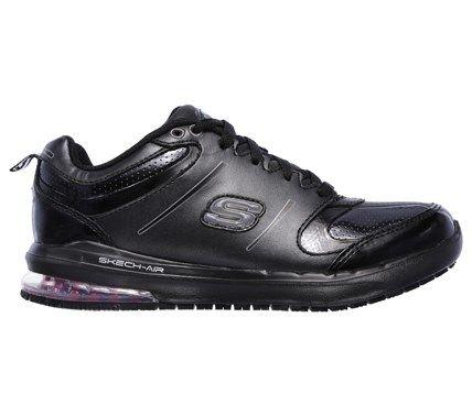 Skechers Work Women's Skech Air Lingle Memory Foam Work Sneakers (Black)