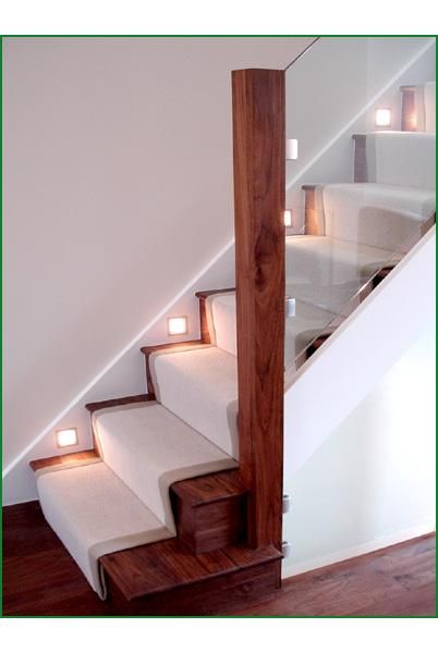 staircase case studies - walnut and glass staircase