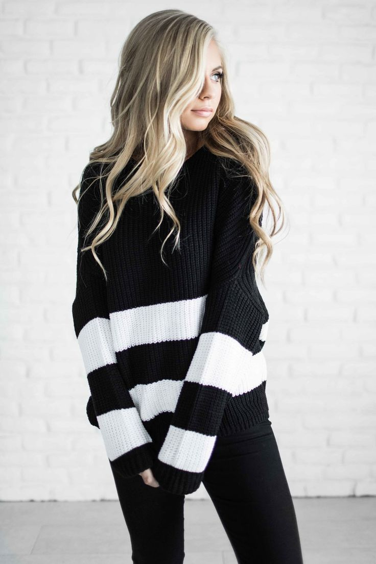 sweater, fashion, style, jessakae, shop, stripe sweater