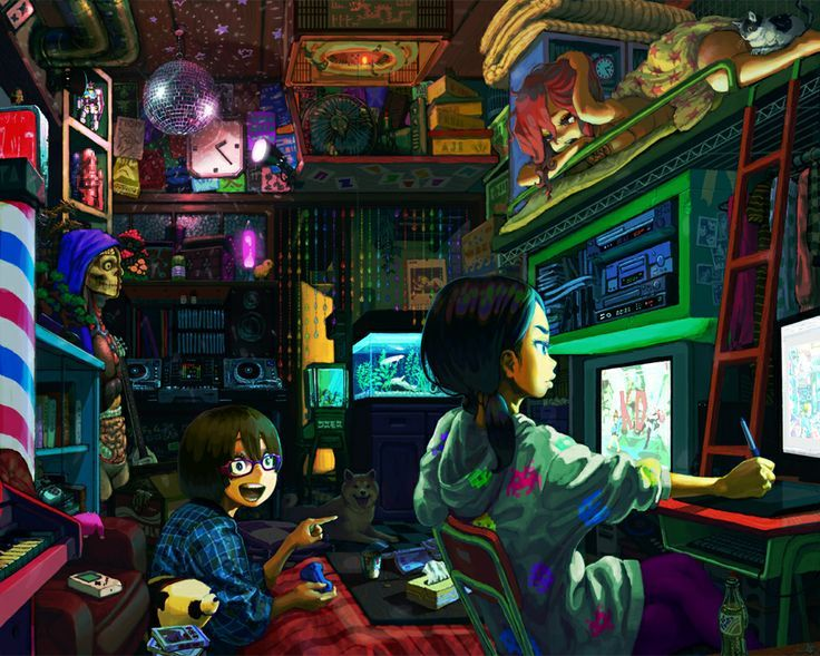 Resultado de imagen para futuristic otaku room
