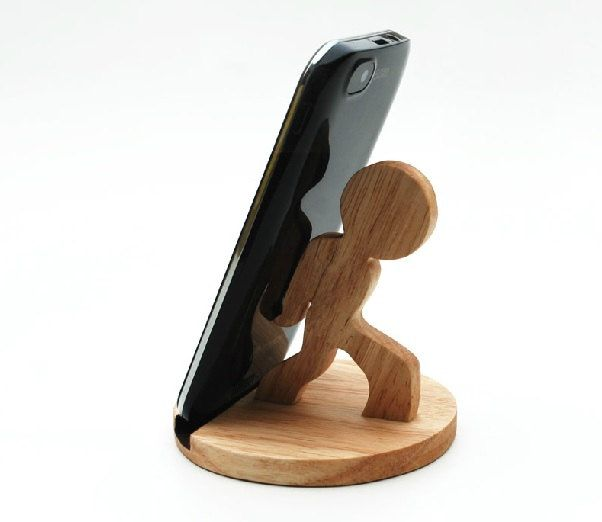 Wooden Phone Stand Desktop Phone Holder Phone Docking di YIMOWOOD