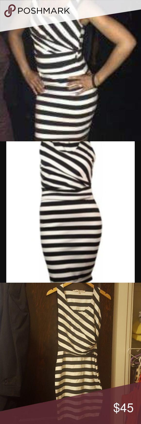Striped Rachel By Rachel Roy dress Striped tight fitting dress hits right by the knees brand new Rachel Roy Dresses Midi