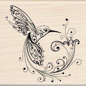 Amazon.com: Inkadinkado Hummingbird Wood Stamp: Arts, Crafts & Sewing
