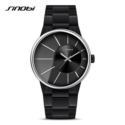 SINOBI Full Stainless Steel Men's Wrist Watches New Sports 2017 Waterp – Blueshine Jewellery