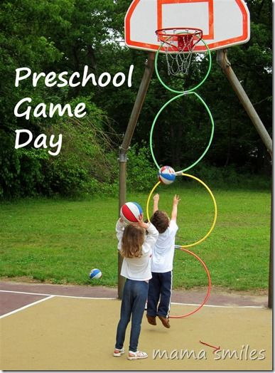 Outdoor active kid activities - preschool game day