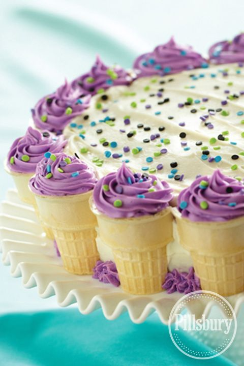Cake Decorating Ice Cream Cones : 10 Best images about Bold Purple on Pinterest Trees ...