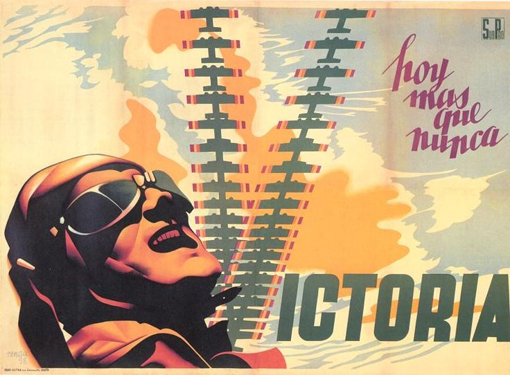 Victoria hoy más que nunca (Victory today more than ever) by Josep Renau, 1938. Contributor: España. Subsecretaría de Propaganda.