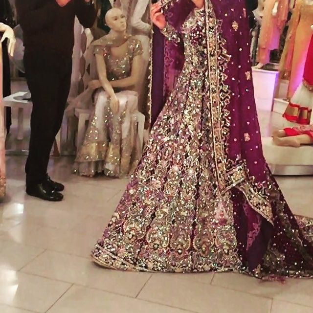 is it possible for your eyes to literally pop out of your head?? diamond crystal bling covered purple indian gown