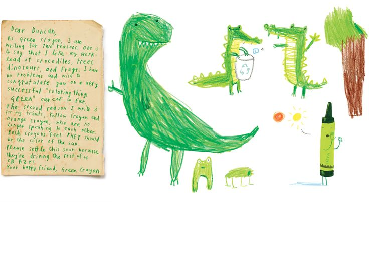THE DAY THE CRAYONS QUIT by Oliver Jeffers (2013)  http://www.youtube.com/watch?v=VDBTwtEuY24