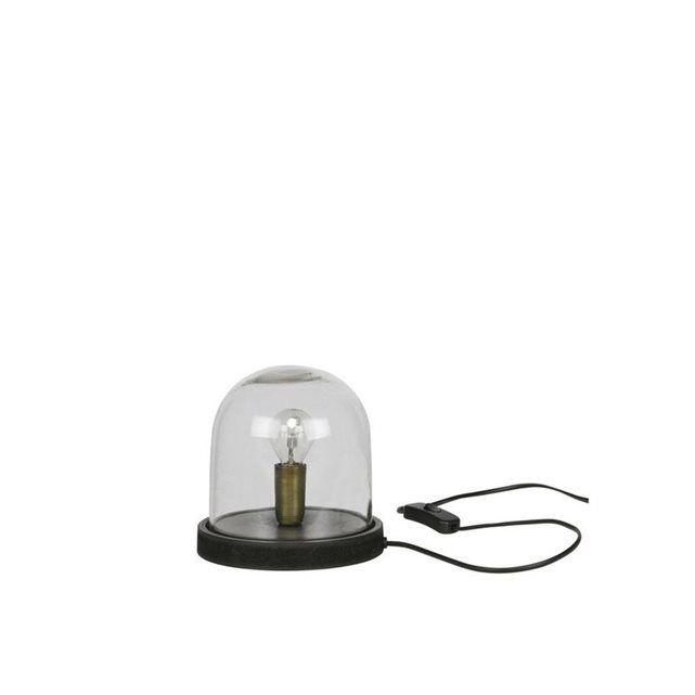 Lampe à poser industrielle verre et bois S Cover Up DE EEKHOORN
