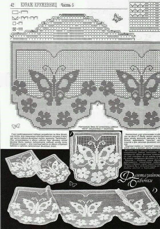3343 best crochet filet images on pinterest crocheting filet crochet and crochet doilies - Cenefas de crochet ...