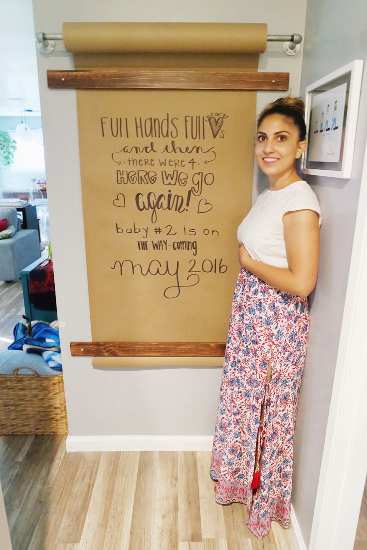pregnancy announcement, creative ways to announce you're pregnant, kraft wall pregnancy countdown.