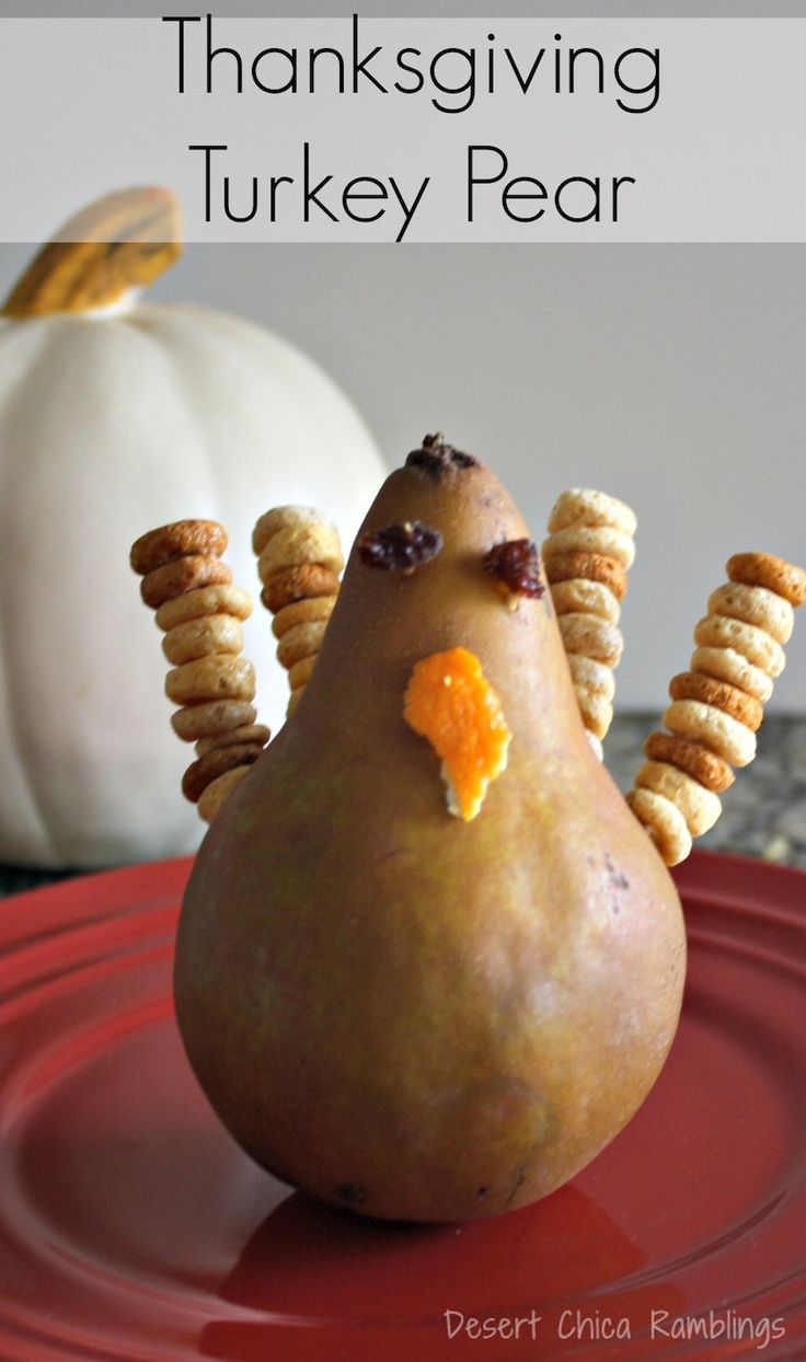 Thanksgiving turkey pear craft and appetizer crafts for What to serve with thanksgiving turkey
