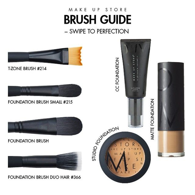 Guía de brochas y bases de maquillaje de Make Up Store.