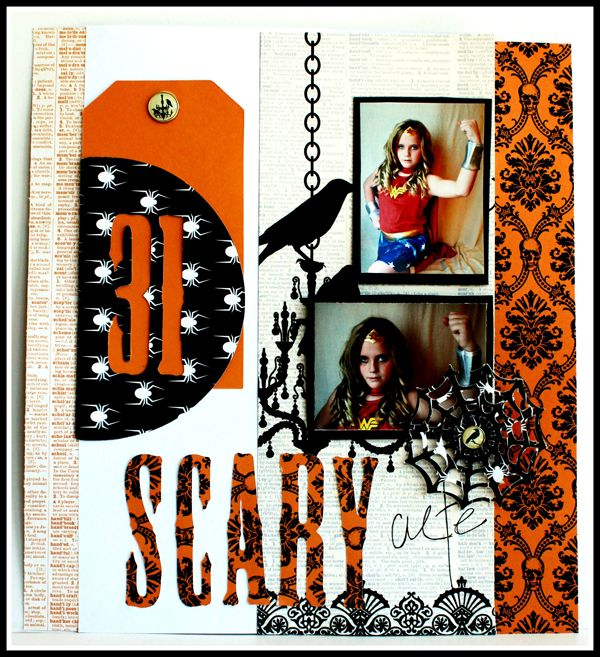SCARY scrapbook page