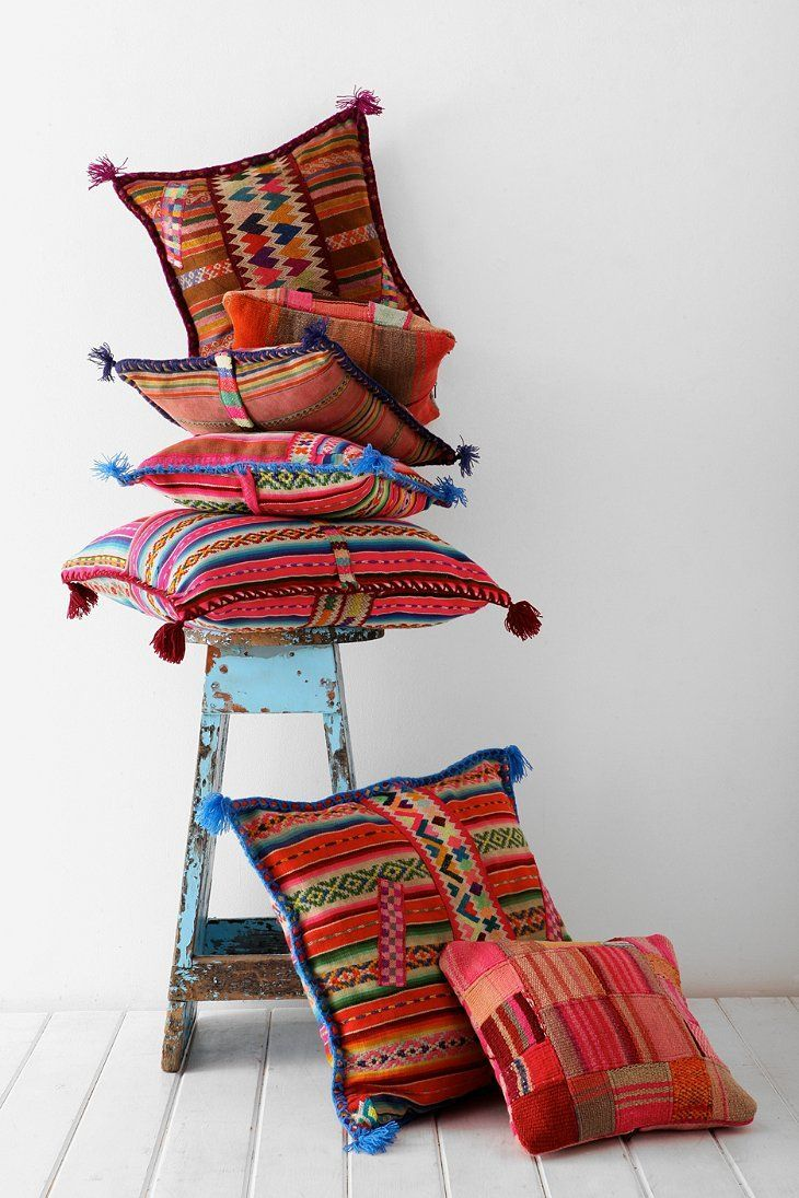 Our Open Road X UO Peruvian One-Of-A-Kind Throw Pillow
