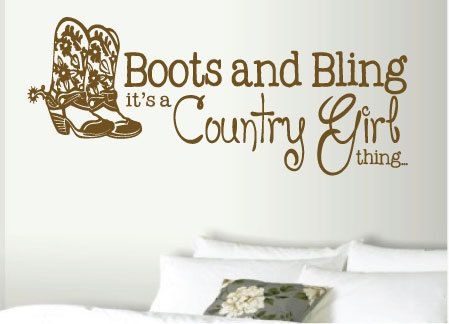 14X29 Boots And Bling Itu0027s A Country Girl By Designstudiosigns, $37.00