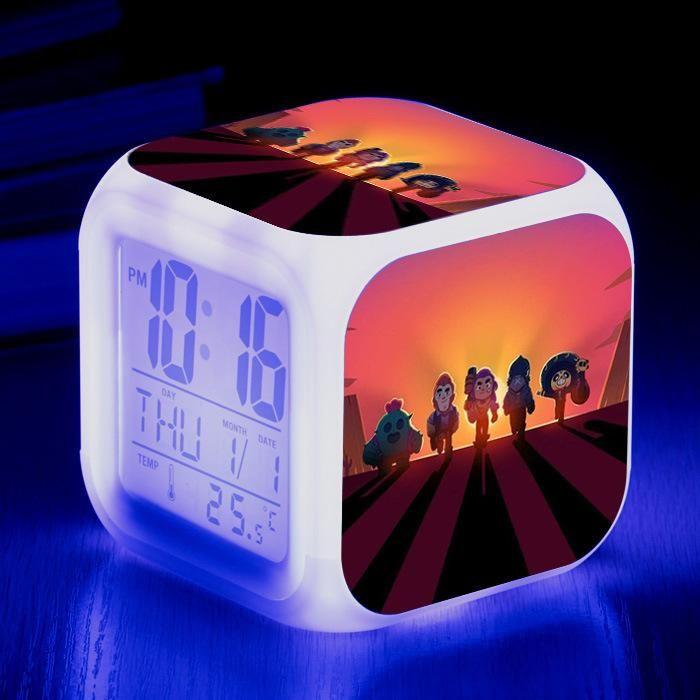 Supercell Brawl Stars Digital Alarm Clock Digital Calendar