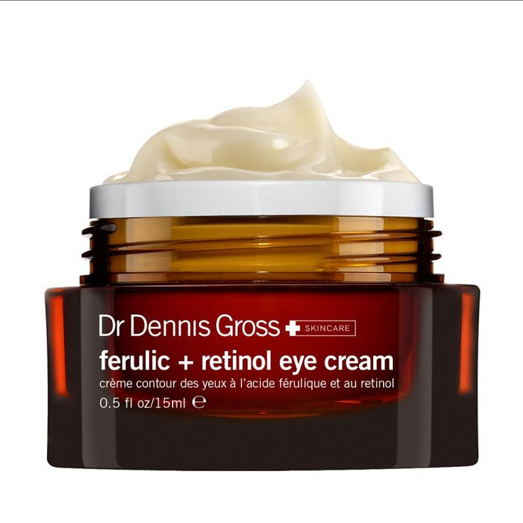 Ferulic acid (a potent antioxidant) and retinol (the gold standard of anti-agers) combine to moisturize, firm, and resurface under-eye skin while sealing in hydration. Dr. Dennis Gross Ferulic + Retinol Eye Cream, $68; qvc.com