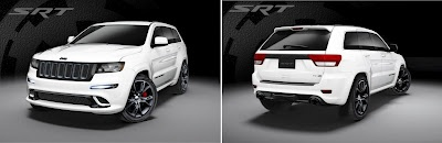Jeep has announced that 2013 Grand Cherokee SRT8 will comes in two special editions, Alpine and Vapor.    2013 Jeep Grand Cherokee Alpine will be covered with white paint, while Grand Cherokee Vapor will come with black paint, that will be the next option.