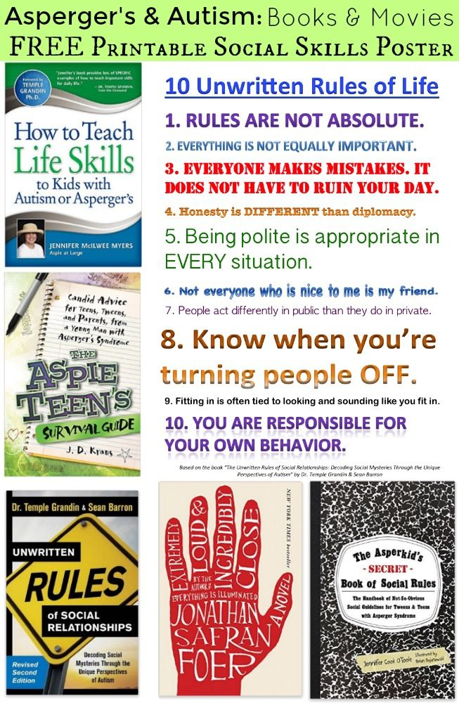 35 best all about autism images on pinterest autism behavior and printable unwritten rules of life poster for individuals autism aspergers fandeluxe Images