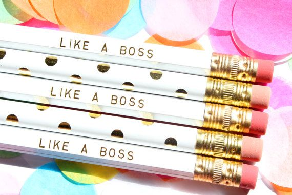 These pencils are fancy yet humorous and would the perfect gift for that friend that always saying Like A Boss (you know who I am talking about!) These