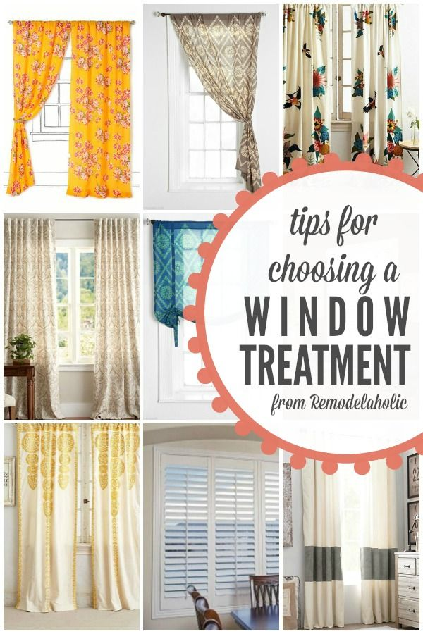 Tips for Choosing a Window Treatment | @Remodelaholic #spon #AllThingsWindows #tips