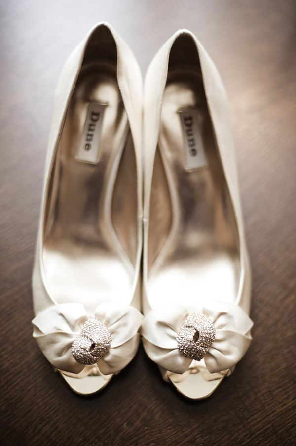 Dune shoes for a bride in Jenny Packham. Photography by www.littlejewel.co.uk