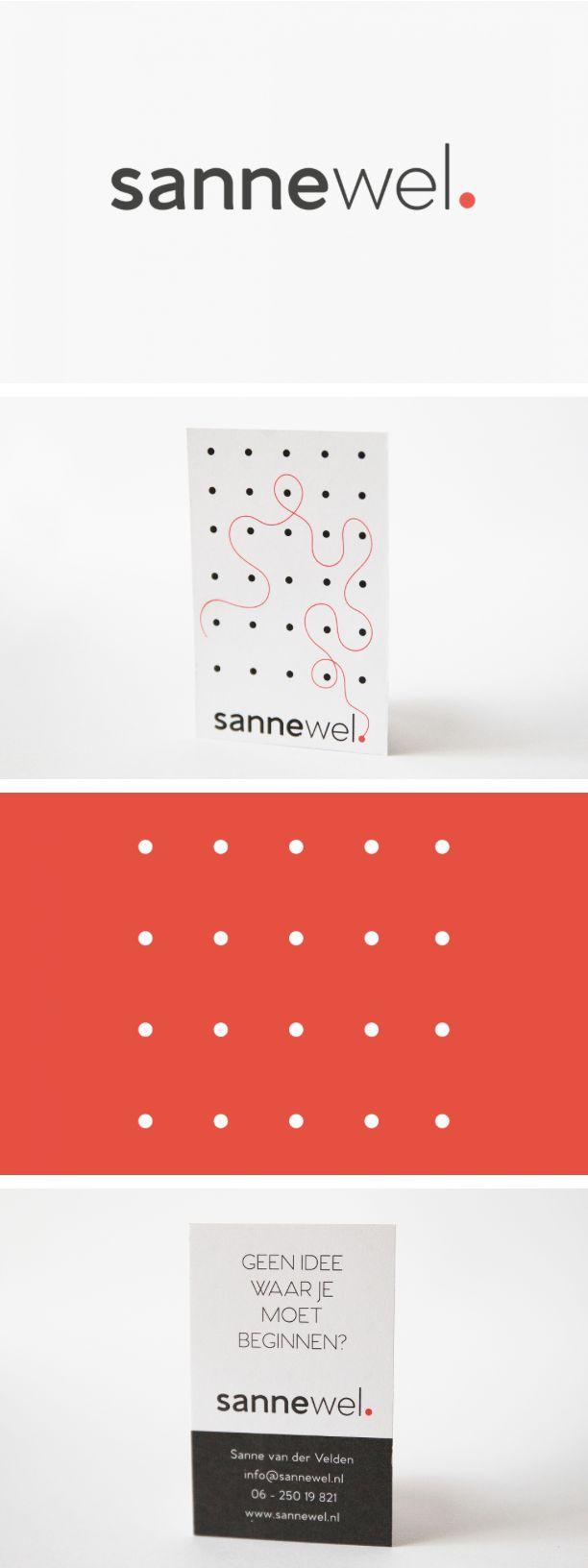 Naam, logo en huisstijl voor organisatietalent Sanne #logodesign - door Juli Ontwerpburo
