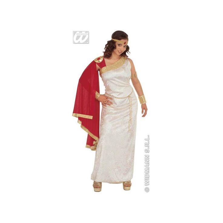 Ce déguisement romain grecque est composé d'une robe, d'une toge, une couronne et une paire de bracelets.