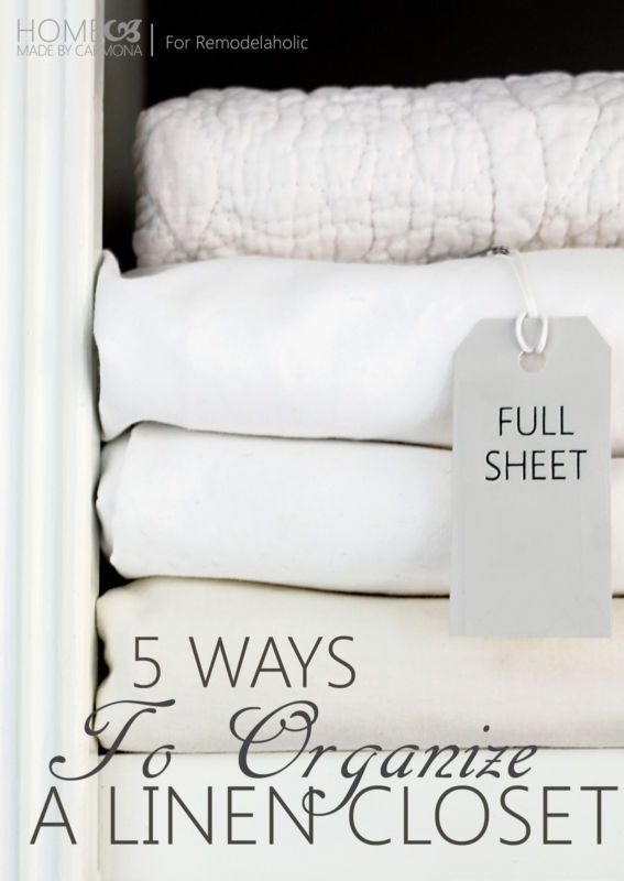 Tips for a beautiful and organized linen closet (even if you don't have an actual closet!) #spon