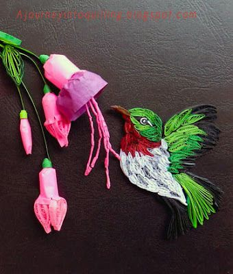 quilled birds | Journey into Quilling & Paper Crafting: Quilled Humming Bird Closeup
