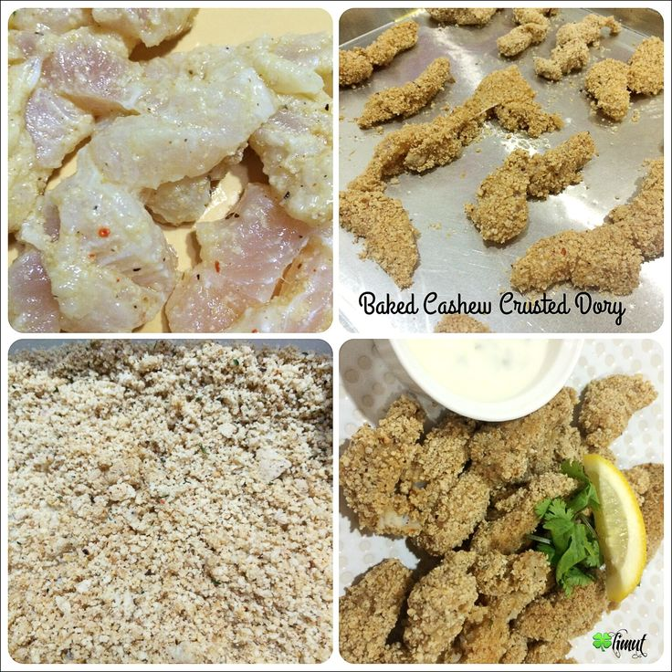 Baked Cashew Crusted Dory  #homemade #healthysnacking