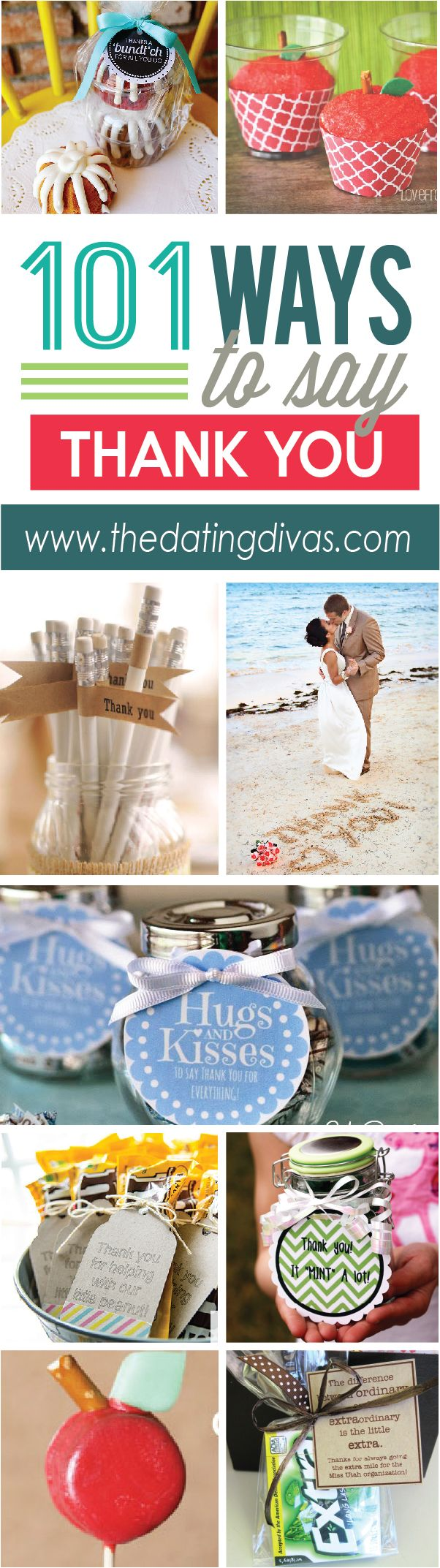 These 101 creative ways to say thank you are perfect for any occasion. www.TheDatingDivas.com