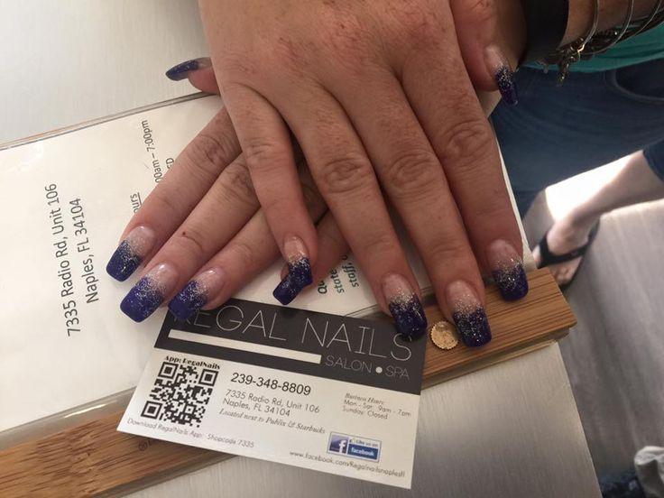 Blue Nails Glitter Nail Art Blue Nail Tips Glitter Nail Tips