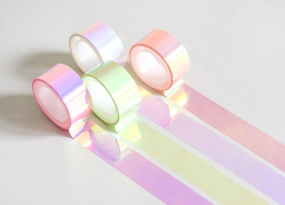 Holo tape holographic masking tape iridescent by MightyPaperShop