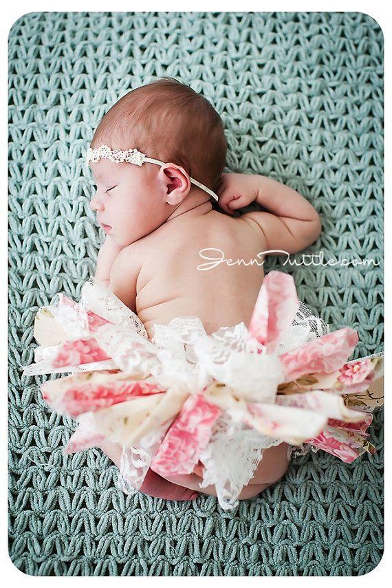 Newborn Tutu Baby Tutu Scrap Tutu Rag Tutu by EmilyzEmbellishments