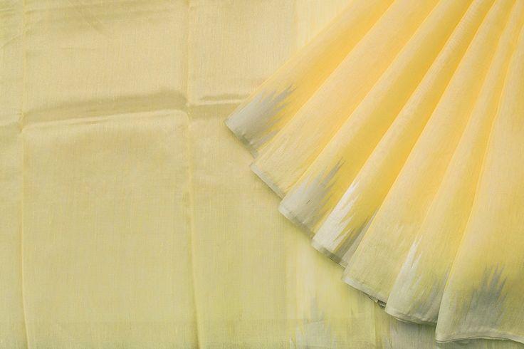 Urdir Handwoven Linen Silk Sari 1019843 - Sari / Linen - Parisera
