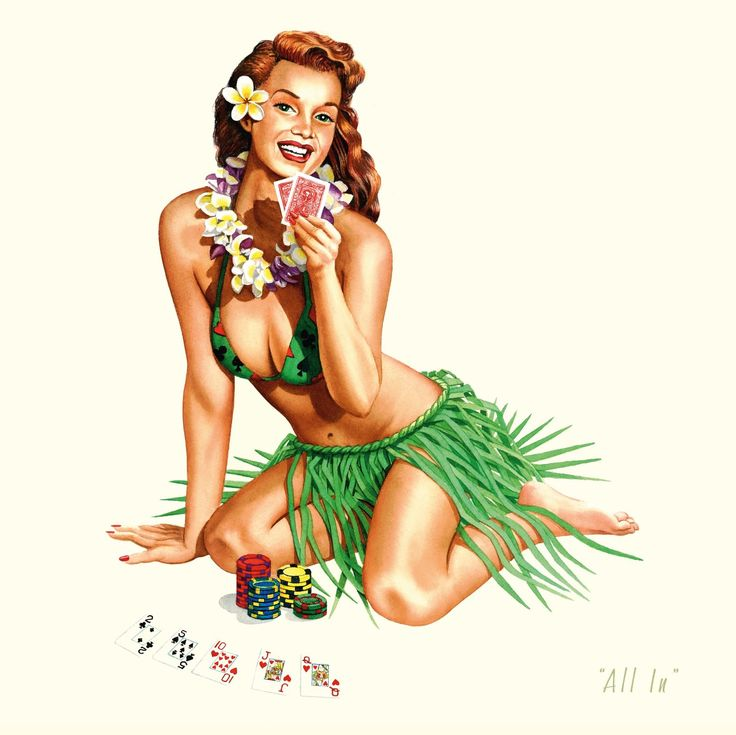 Amazoncom: Retro Vintage Hawaiian Pin-up Hula Girl