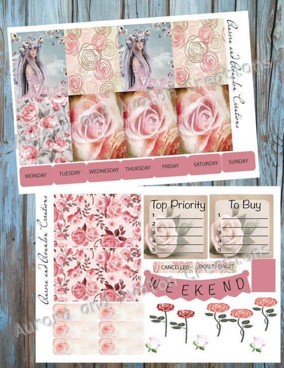 Rose Fey..weekly kit for Erin Condren and Happy Planner