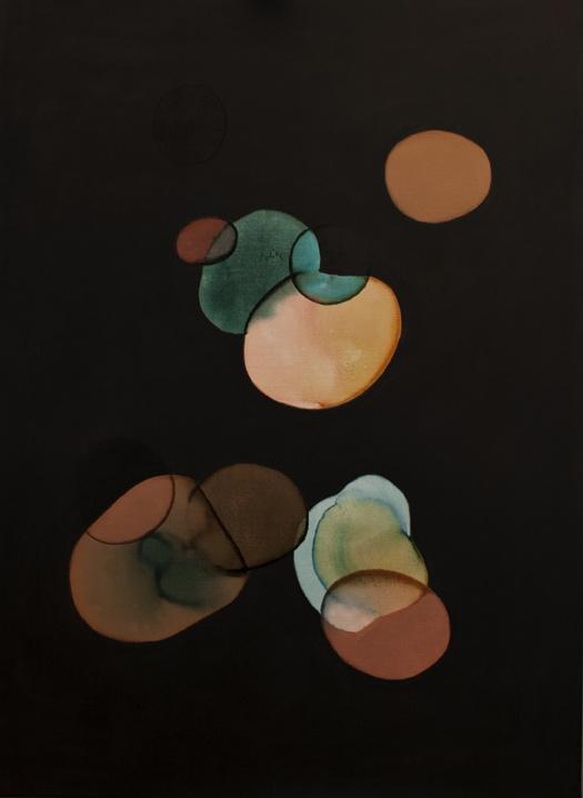 2012-016 • shine balls - fénygömbök 16 - 140 x 100 cm - acrylic and lacquer on canvas - akril, lakk, vászon - romvári márton contemporary art