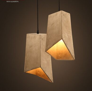 Retro desogn art cement square modern Pendant Light vintage lampe ciment  luminaria pendente industrial for bar aisle deco-in Pendant Lights from Lights & Lighting on Aliexpress.com | Alibaba Group