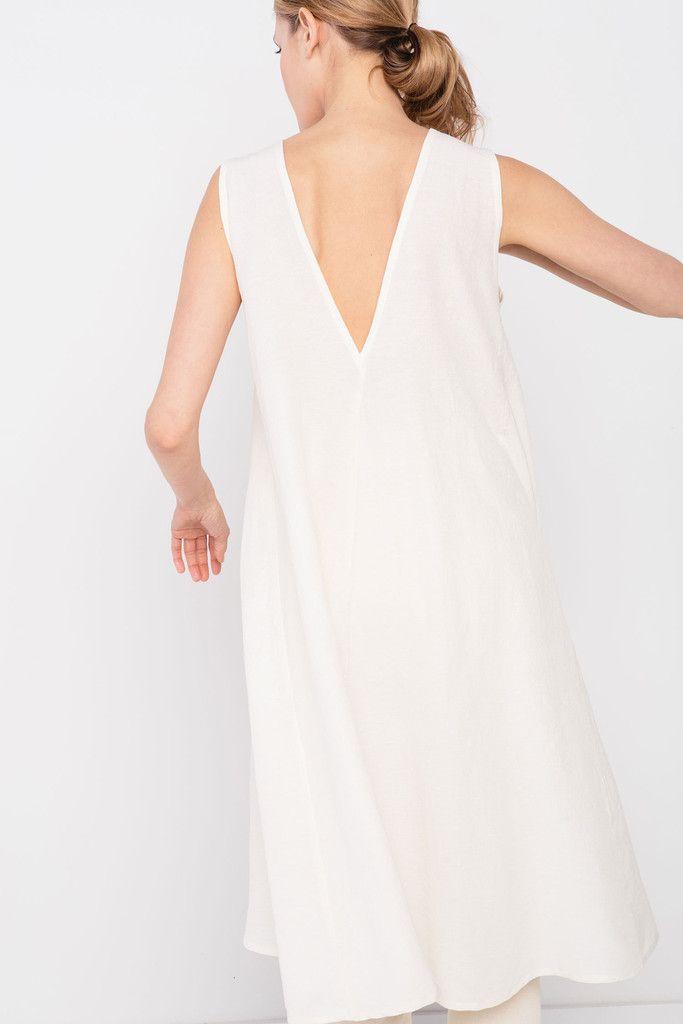 Harlow Dress in Hemp Gauze