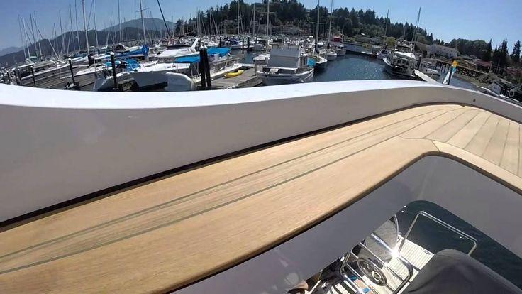 teak decking flybridge Gopro vid